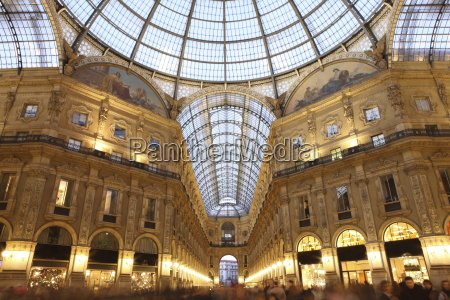 galleria vittorio emanuele at dusk milan