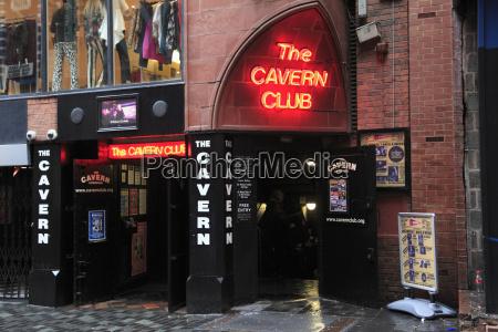 cavern club mathew street liverpool merseyside