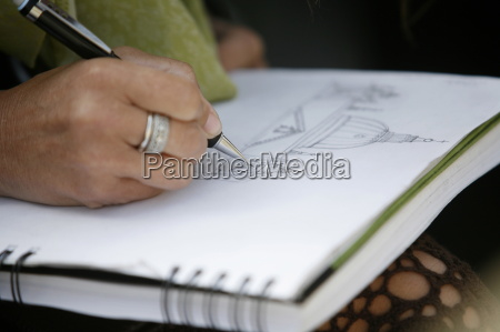 kvinden tegning peterskirken rom lazio italien