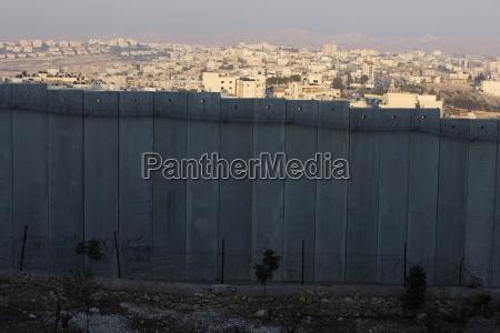 sikkerhedmur i bethany israel mellemosten