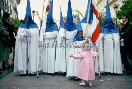 procession for semana santa holy week