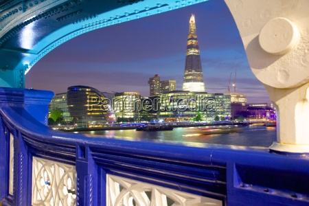 the shard from tower bridge at