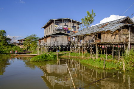 village of nam pan stilt houses