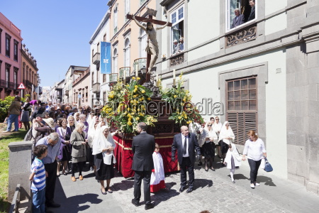 easter procession in the old town