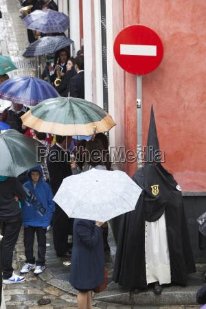 penitent during semana santa holy week