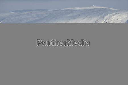 norway troms coastal landscape in winter