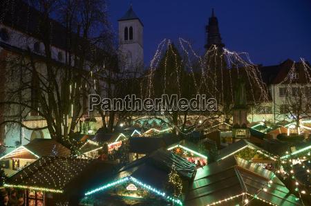 tyskland baden wuerttemberg freiburg lettet julemarked