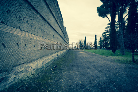 italien tivoli mur af hadrians villa