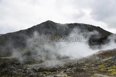 varm kilde ved landmannalaugar i island