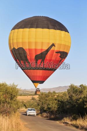 sydafrika north west bojanala platinum varmluftsballon