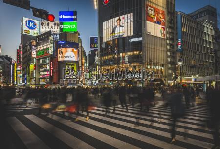 japan tokyo shibuya folk der krydser