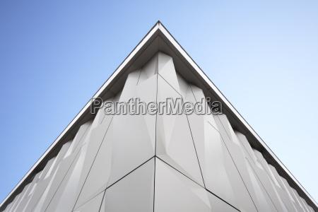 en del af moderne facade med