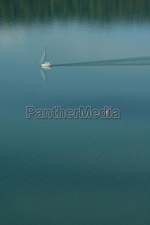 germany sailing boat and navigation mark