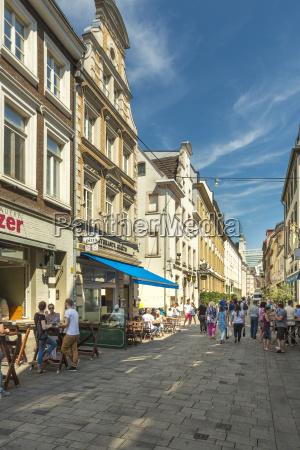 germany dusseldorf pedestrian area at burgplatz