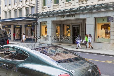 schweiz geneve luksusbutikker pa rue du
