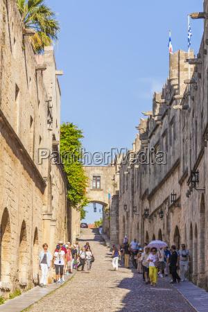 graekenland rhodos gamle bydel middelalderlige vej