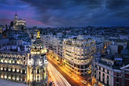 centrum madrytu gran vis hiszpania