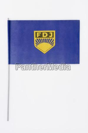 flag med symbolet for forbundsrepublikken tyskland