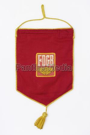banner med symbol for forbundsrepublikken tyskland