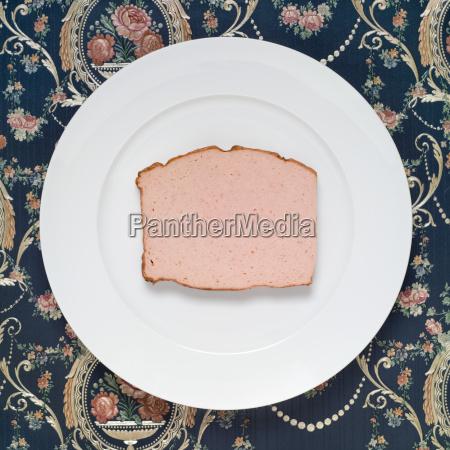 slice of meat loaf on plate