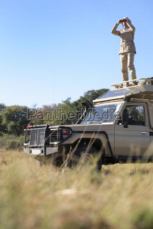 afrika botswana okavango delta man pa