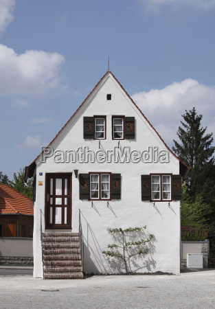 germany bavaria swabia allgaeu kaufbeuren view