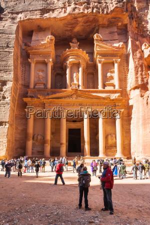 tourist near al khazneh temple the