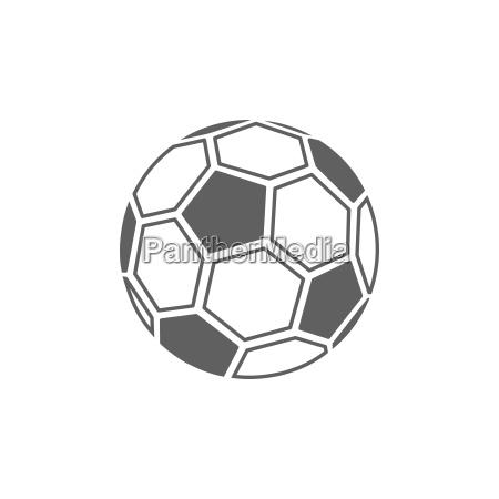 soccer ball ikon pa hvid baggrund