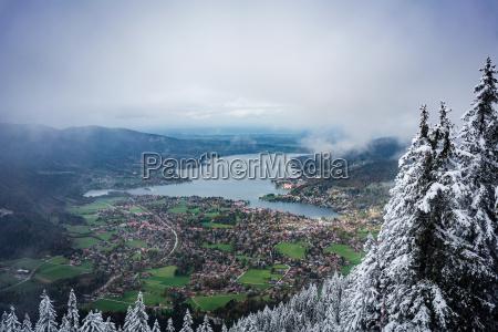 bjerge vinter trae alper bayern tyskland