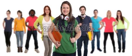 gruppe af studerende griner lykkeligt people