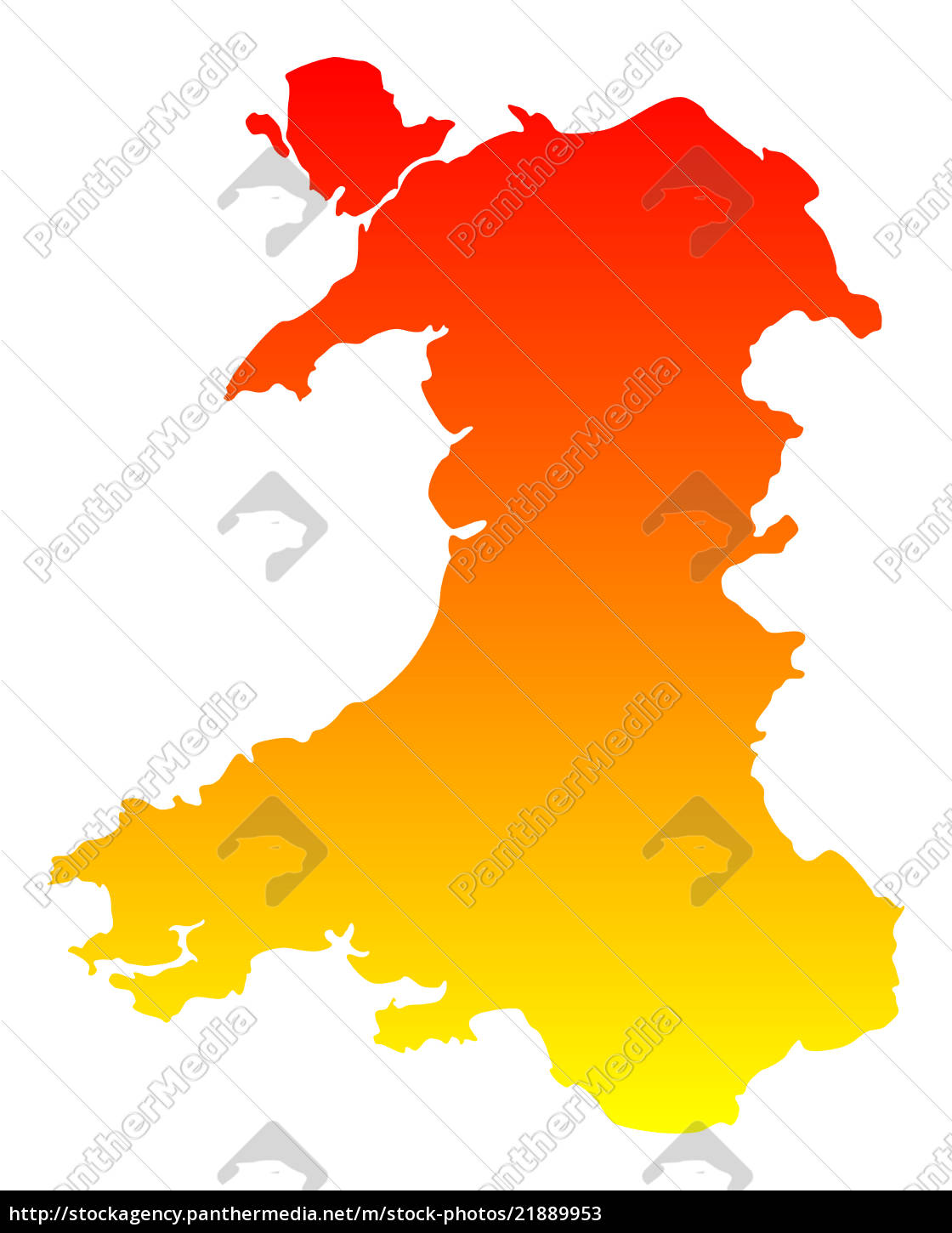 Kort Over Wales Stockphoto 21889953 Panthermedia Billedbureau