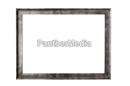 metal picture frame on white background
