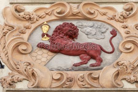 by europa prag facade relief gamle