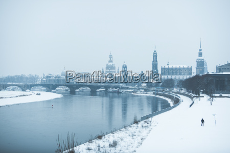 germany dresden view to the city