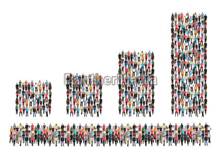 chart business vaekst gruppe folks succes