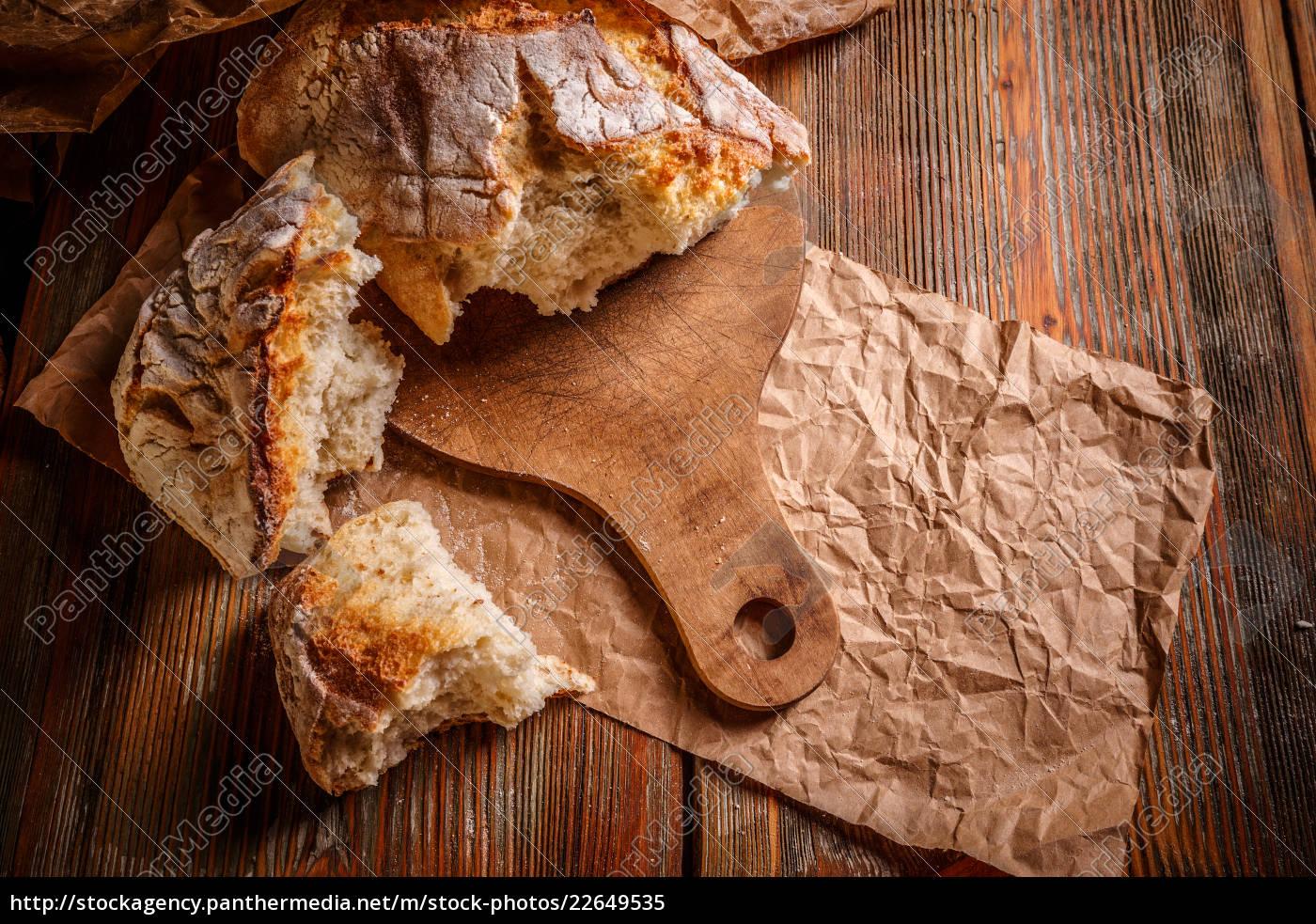 nærbillede, af, rustik, loaf - 22649535