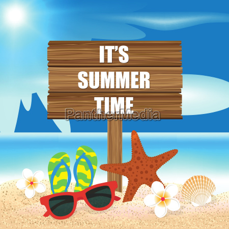 summer holiday background its summer time
