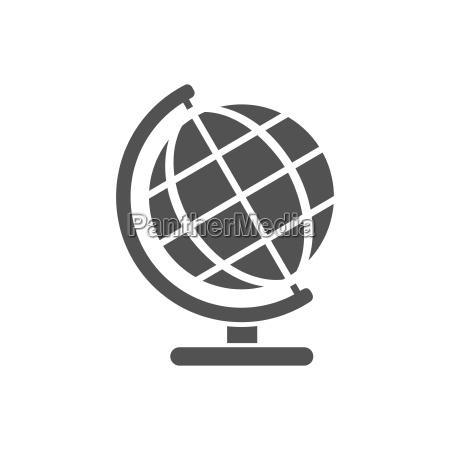 kloden jorden globalt ikon globale kort