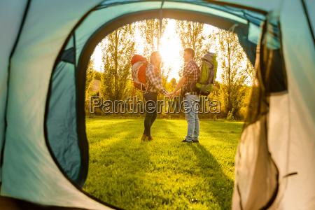 ungt, par, camping - 22826589