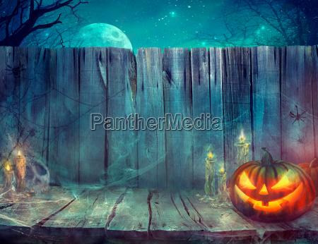 halloween baggrund med graeskar