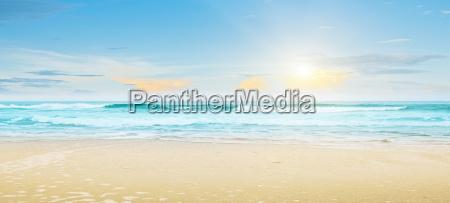 tropisk strand sommer landskab