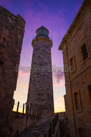 morro castle lighthouse at sunset