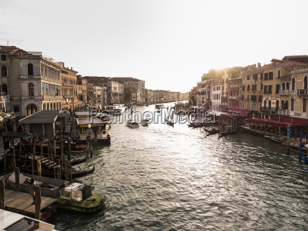 italy venice canale grande at evening