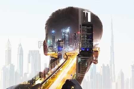 bagsiden af u200bu200bforretningsmandens hoved