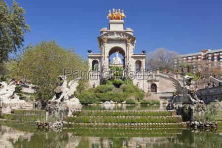 la cascada fountain with quadriga de