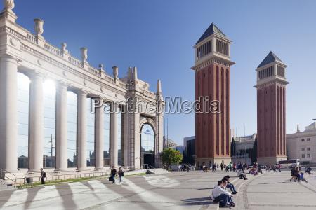 two venetian towers placa despanya placa