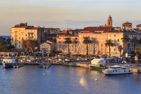 ajaccio waterfront at sunrise from the