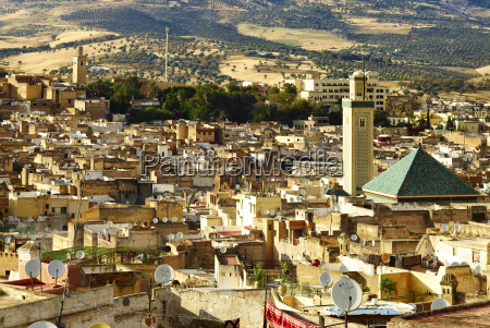 panoramic view of fez from the
