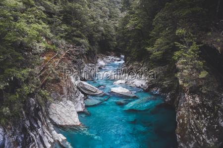 blue pools mount aspiring national park