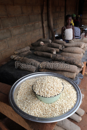 corn and cassava in an african